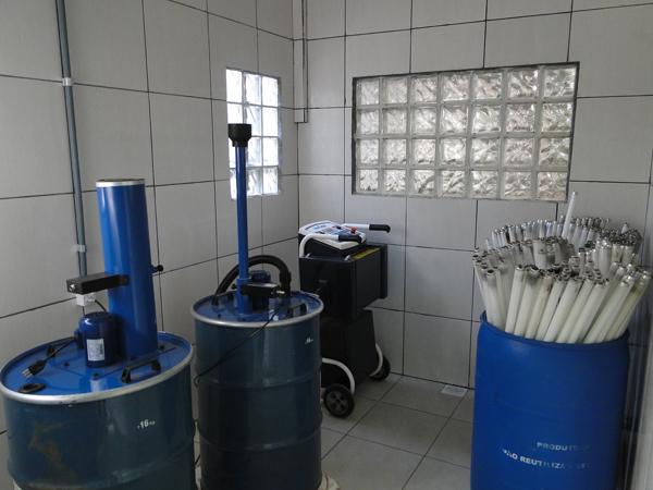 Descaracterização e Descontaminação de Lâmpadas